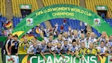 Germany celebrate after winning the 2014 U-20 Women's World Cup