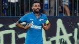 Danny celebrates his 88th-minute effort for Zenit