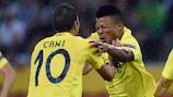 Ikechukwu Uche tras marcar para el Villarreal