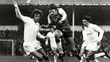 Theo De Jong, del Feyenoord, en la final de la Copa de la UEFA de 1974