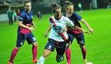 Tjaša Tibaut (ŽNK Pomurje) & Joana Flaviano (ASD Torres CF)