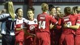 Il Bristol festeggia la prima rete contro il Raheny