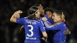 Toda a equipa do Chelsea festejou a grande penalidade de Didier Drogba