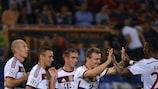 Bayern festeja o sétimo golo em Roma
