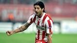 Alejandro Domínguez enjoys scoring Olympiacos' second goal