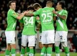 """""""Вольфсбург"""" отмечает третий гол в ворота """"бульдогов"""""""