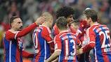 La gioia del FC Bayern München, corsaro sul campo dell'SC Freiburg