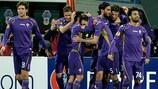 Mario Gomez revels in his strike against Tottenham