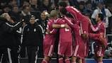 Real Madrid celebrate victory at Schalke