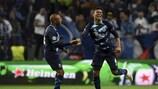 La joie de Casemiro après avoir donné un avantage 3-0 à Porto