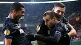 Inter celebrate Rodrigo Palacio's opener in Germany