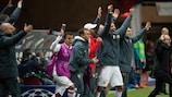 Monaco's bench celebrate victory