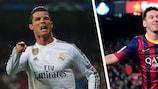 Cristiano Ronaldo et Lionel Messi sont en tête du classement avec 76 et 77 buts respectivement