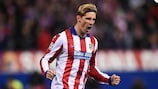 Fernando Torres tras anotar el penalti que clasificaba al Atlético de Madrid frente al Leverkusen