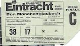 A ticket from the second leg of the all-German 1980 UEFA Cup final