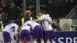 La Fiorentina celebra en el Stadio Olimpico