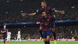 2014/15 traf Neymar für Barcelona fünfmal gegen Paris