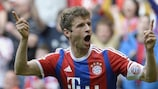 Thomas Müller is a master at finding space in the opposition penalty box