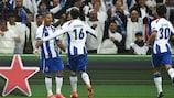 Ricardo Quaresma celebrates scoring one of his two goals for Porto