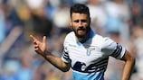 Antonio Candreva logró el tercer gol del Lazio ante el Empoli