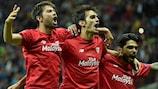 Sevilla celebrate their UEFA Europa League final victory