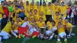 El Milsami celebra su victoria para ganar su primer título moldavo