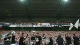 Borussia Mönchengladbach feiert am Ende der Saison 2014/15