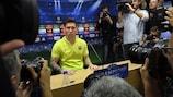 Lionel Messi na conferência de imprensa de antevisão