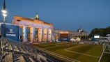 The match will be played in the shadow of the Brandenburg Gate
