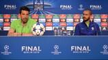Gianluigi Buffon y Leonardo Bonucci, en la rueda de prensa