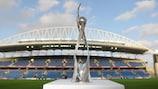 Die zweite Trophäe der UEFA-U19-Europameisterschaft der Frauen, seit 2014 im Einsatz