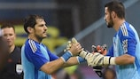 Kiko Casilla replaced Madrid predecessor Iker Casillas for his Spain debut in November