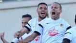 El Milsami celebra el 2-1 ante el Ludogorets