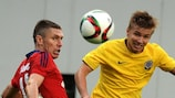 Sparta Praha, in yellow, will have key striker David Lafata at their service on Wednesday