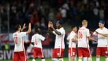 Festa dos jogadores do Salzburgo