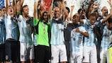 Târgu Mureş celebrate winning the Romanian Super Cup