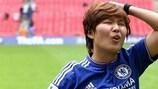 Ji So-Yun ha aperto le marcature per il Chelsea contro il Glasgow in amichevole a febbraio
