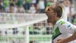 Wolfsburgs Bas Dost stellte erneut seine Torjägerqualitäten unter Beweis
