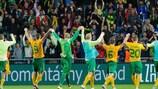 El Žilina recibe los aplausos de su afición tras su remontada ante el Athletic