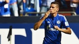 Julian Draxler celebrates a Bundesliga goal in August