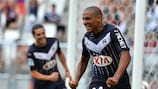 Wahbi Khazri after scoring a league goal for Bordeaux