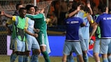 Astana celebrate beating APOEL to the group stage