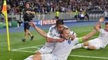 Динамовцы Киева отмечают первый гол