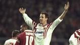 Christophe Bonvin, buteur face à Liverpool lors de la saison 1996/97