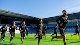 Malmö in training for their encounter with Cristiano Ronaldo
