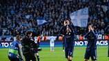 Cristiano Ronaldo, Nacho and Raphaël Varane applaud the Real Madrid fans