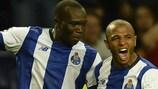 Porto celebrate their matchday three win against Maccabi