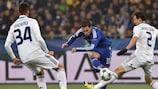 Chelsea's Eden Hazard tries to force a breakthrough in Kyiv