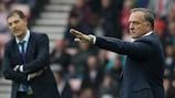 Dick Advocaat on the touchline at Sunderland