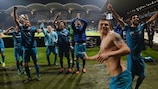 Zenit celebrate victory and progress